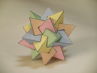 正4面体×5の正複合多面体: 天空...